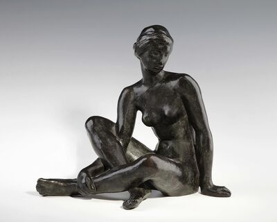 Fritz Klimsch, 'Ruhende mit Turban', ca. 1955