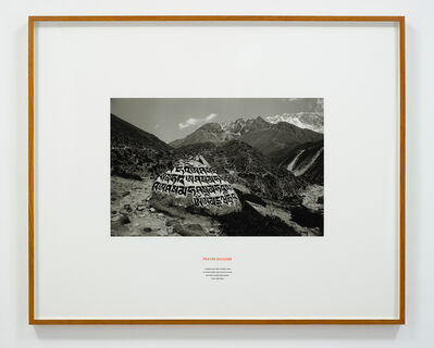 Hamish Fulton, 'Prayer Boulder, Nepal, 2009', 2009