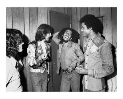 Kim Gottlieb-Walker, 'George Harrison Meets Bob Marley Backstage at the Roxy', 1975