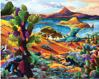 Redina Tili, 'Galapagos - Original oil painting', 2018