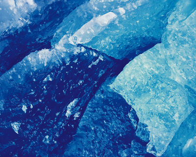 Christopher Burkett, 'Blue Glacial Ice, Alaska', 1993