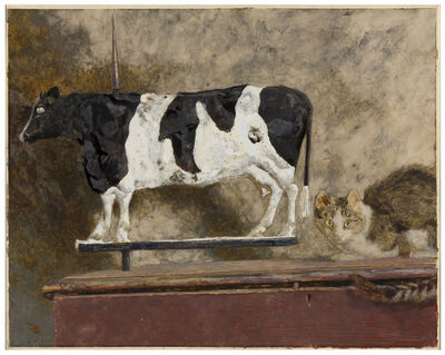 Jamie Wyeth, 'Cow and the Cat', 1988