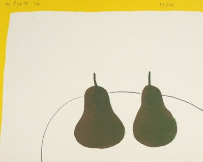 William Scott, 'Dark Pears', 1974