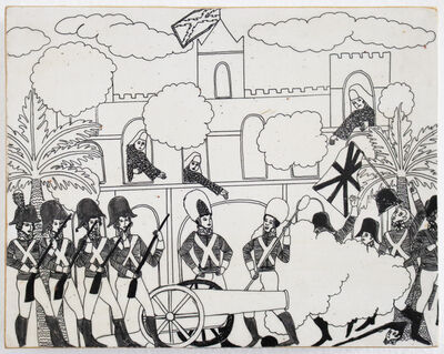 Umar Rashid (Frohawk Two Feathers), 'The First Battle of Algiers (New Orleans) The sacking of New Orleans by the Spanish/Choctaw alliance.   Nuns wept from the balconies.', 2016