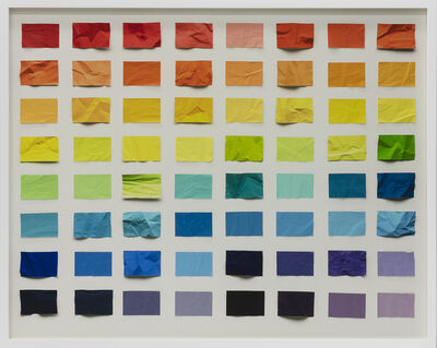Vik Muniz, 'Untitled (Crumped chromatic scale)', 2017