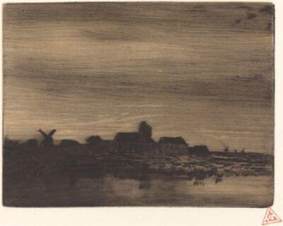 Charles Émile Jacque, 'Waterside Village', 1848