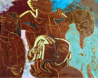 Saule Suleimenova, 'On a Bus Stop', 1998
