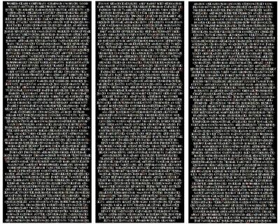 Rafael Lozano-Hemmer, '1000 Platitudes (Spanish triptych)', 2005