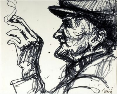 Norman Cornish, 'Man smoking', ca. 1965