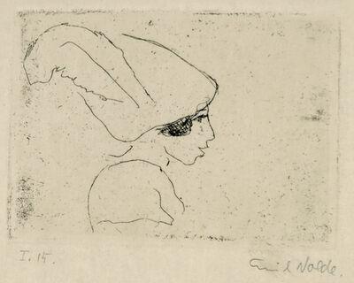 Emil Nolde, 'Mädchenprofil (Mädchen mit Hut) (Girl Profile (Girl with Hat))', 1911