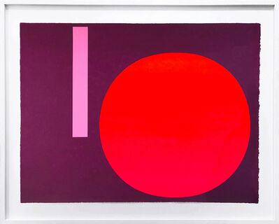 Rupprecht Geiger, 'Metapher Zahl Sechs', 1985-89