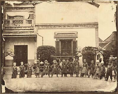 Woodbury and Page, 'Chinese School of Dance, Semarang', 1867c/1867c