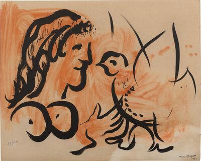 Marc Chagall, 'Femme à l'oiseau, from Douze Contemporains (Woman with a Bird, from Twelve Contemporains)', 1954