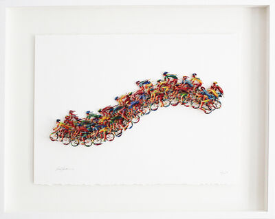 David Gerstein, 'Peloton Wave - Paper Cut', 2008