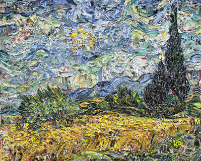 Vik Muniz, 'Wheat Field with Cypresses, after Van Gogh (Pictures of Magazines 2)', 2011
