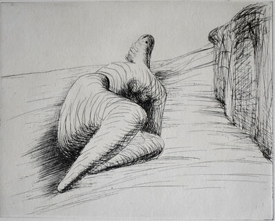 Henry Moore, 'Curved Reclining Figure in Landscape II', 1979
