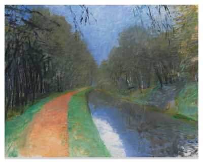 Wolf Kahn, 'Orange Towpath - C & O Canal', 1988
