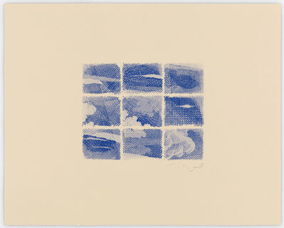 William Tillyer, 'The Flatford Chart Etchings 1. Cobalt Sky', 2010