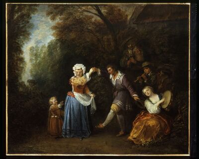 Jean-Antoine Watteau, 'The Country Dance', ca. 1706-1710