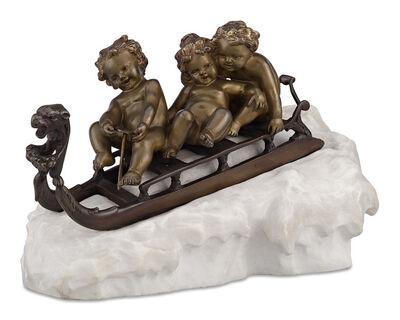 Affortunato Gori, 'Children Sledding', Early 20th century
