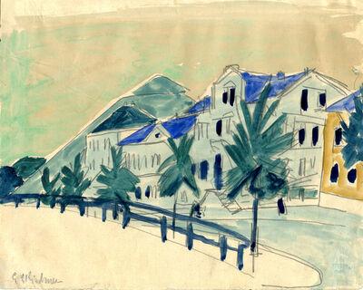 Ernst Ludwig Kirchner, 'Häuser mit Allee', 1910