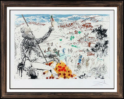 Salvador Dalí, 'Salvador Dali L'Age D'Or Color Lithograph Hand Signed Surreal Framed Artwork SBO', 1957