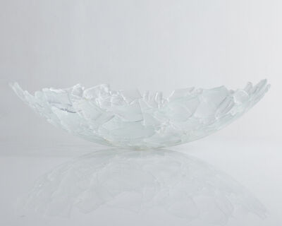 """Jeff Zimmerman, 'Unique """"Shard"""" sculptural bowl in slumped and fused glass. ', 2018"""