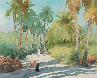 Donna Dickson, 'The Road Through the Palms'