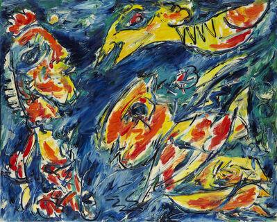 Carl-Henning Pedersen, 'Fuglens Varsel', 1985