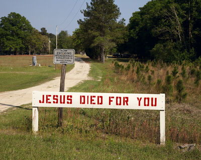 Gillian Laub, 'Jesus died for you', 2010