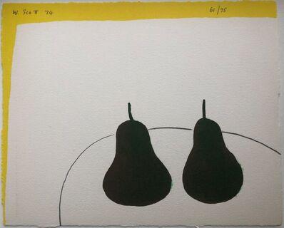 William Scott (1913-1989), 'Dark Pears', 1974