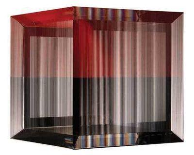 Jesús Rafael Soto, 'Cube noir et rouge', 1995