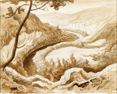 Thomas Hart Benton, 'Buffalo River - Upper Goat Trail - Ponca ', 1962