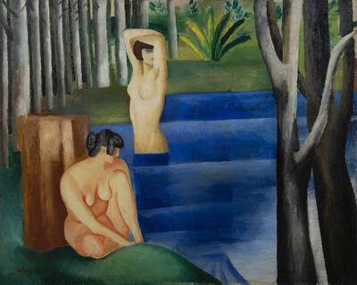 Moise Kisling, 'Deux baigneuses', 1917