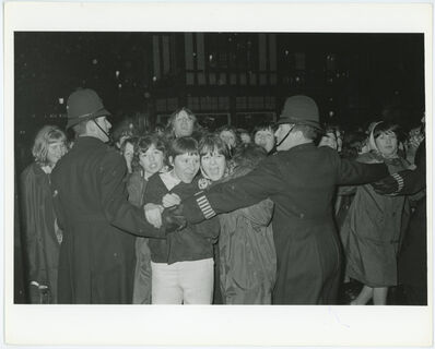 Unknown, 'Beatles Security Guards Blocking Excited Fans', 1960-1970