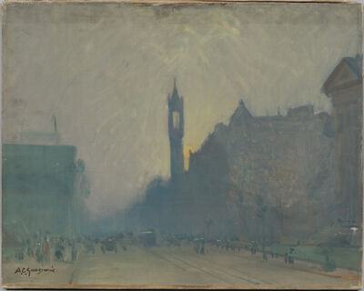 Arthur Clifton Goodwin, 'Sunset on Boylston Street, Boston'