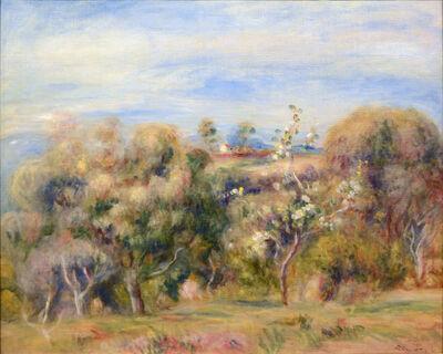 Pierre-Auguste Renoir, 'Paysage: arbres et maison (Paysage de Cagnes)', ca. 1905