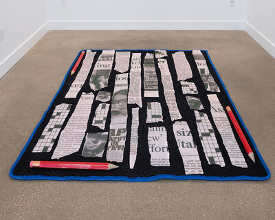Amanda Ross-Ho, 'Untitled Seizure (ENCORE/STRIPS AND PENCILS)', 2021