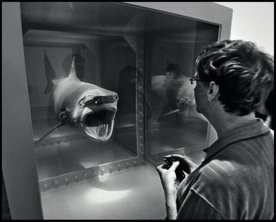 Jean Pigozzi, 'Bill Gates with Damien Hirst's shark, Metropolitan Museum of Art, New York City, USA, 2007', 2007