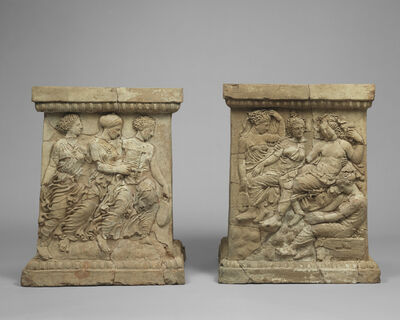'Pair of Altars with Relief Decoration',  first quarter of 4th century B.C.