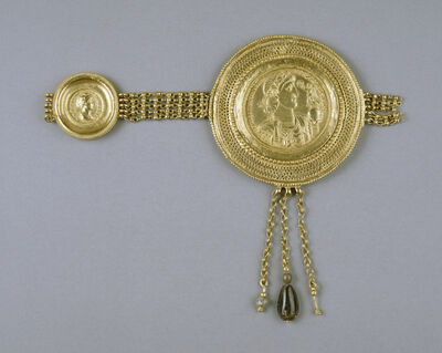 'Belt Section with Medallions of Constantius II and Faustina', Late 4th century