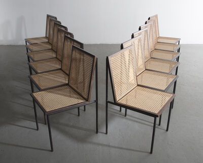 Geraldo de Barros, 'Set of twelve (12) dining chairs ', 1950s