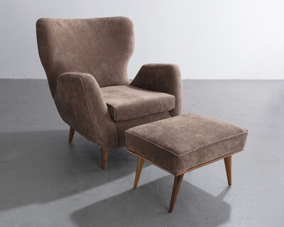 Carlo Hauner & Martin Eisler, 'Lounge chair and ottoman ', 1950s
