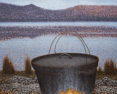 Richard Wastell, 'The Camp Oven', 2019