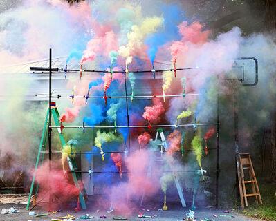 Olaf Breuning, 'Smoke Bombs 2', 2011