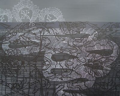 Sarah Amos, 'Storm Lace', 2005