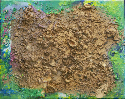 Isack Kousnsky, 'Abstract #27  Gold, Green, Yellow', 2021