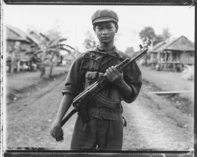 Bill Burke, 'Khmer Rouge Soldier with AK, Nong Pru', 1984