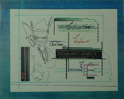Futura, 'Untitled(Fun Gallery Invitation)', 1983