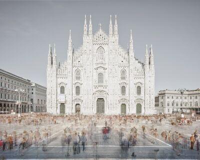 David Burdeny, 'Piazza of Shadows, Milan, Italy', 2016